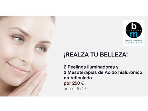 Dos Peelings Iluminadores + Dos Mesoterapias Por 250 €