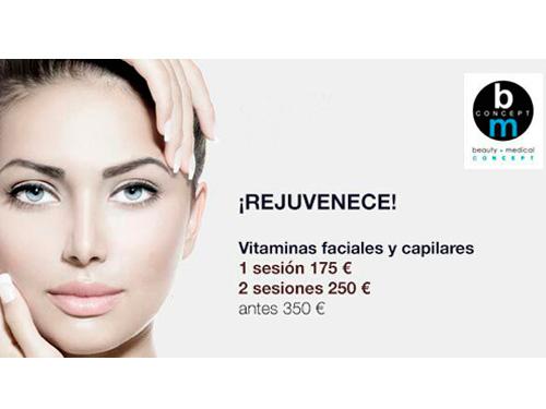 Vitaminas Faciales Y Capilares – 1 Sesión 175 € – 2 Sesiones 250 €